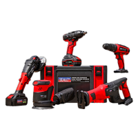 Sealey. CP20V Series 5 x 20V Cordless Tool Combo - 2 Batteries. CP20VCOMBO2